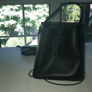 Philip Lin Small Soleil leather bucket bag
